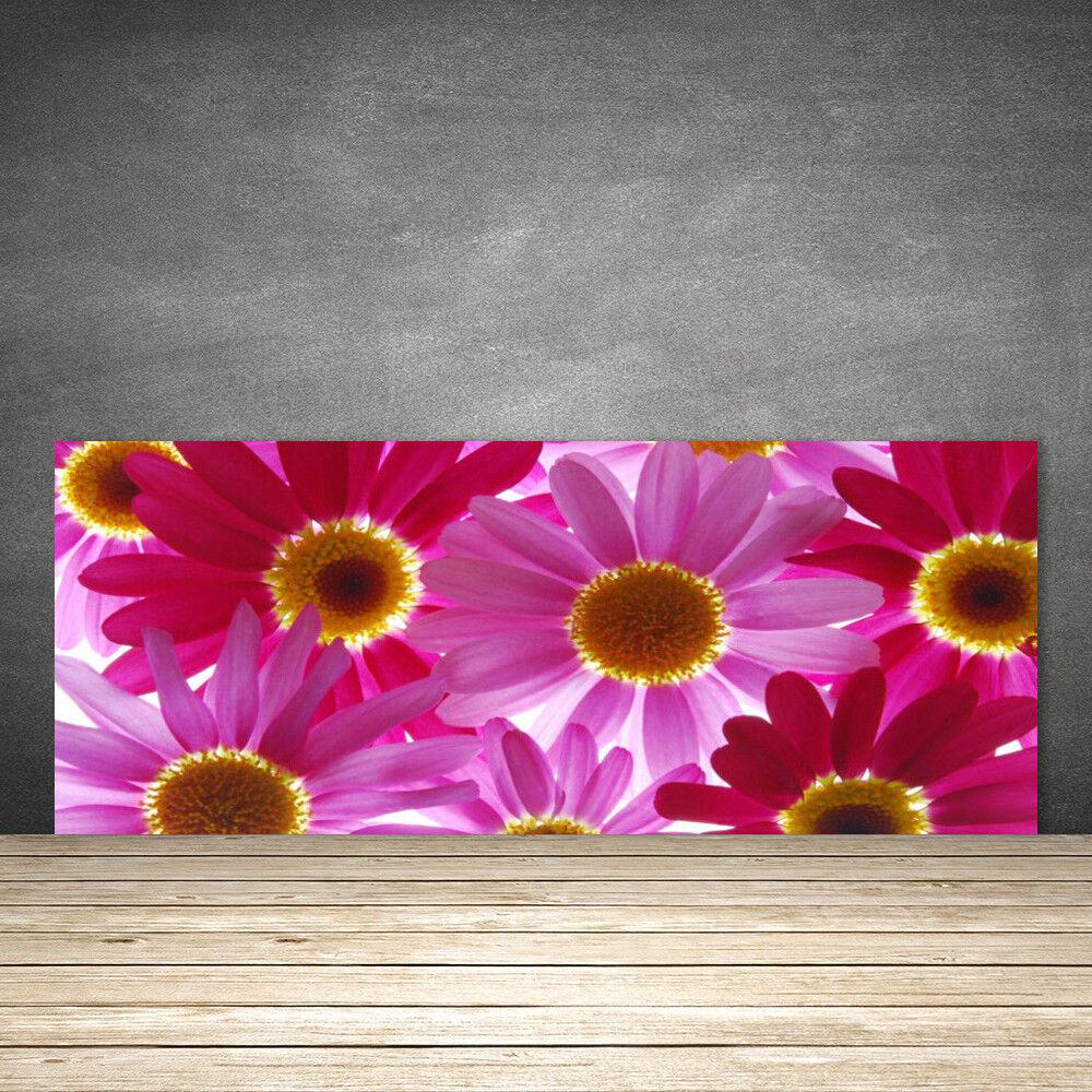 crédence panneau de cuisine en verre panneau crédence 125x50 floral