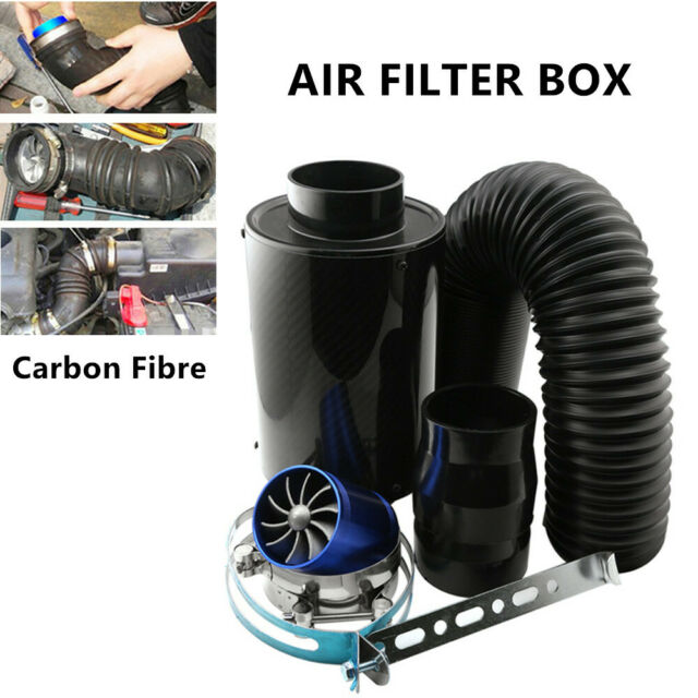 """Universal 3"""" Filter Box Title Carbon Fiber Induction Ram Cold Air Intake System"""