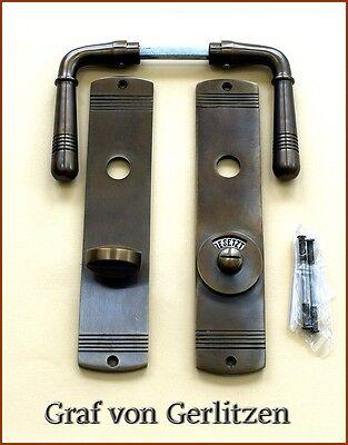 Beschlag  Türklinke Messing antik Bad Tür Alt-Messing #15-GWC-AW