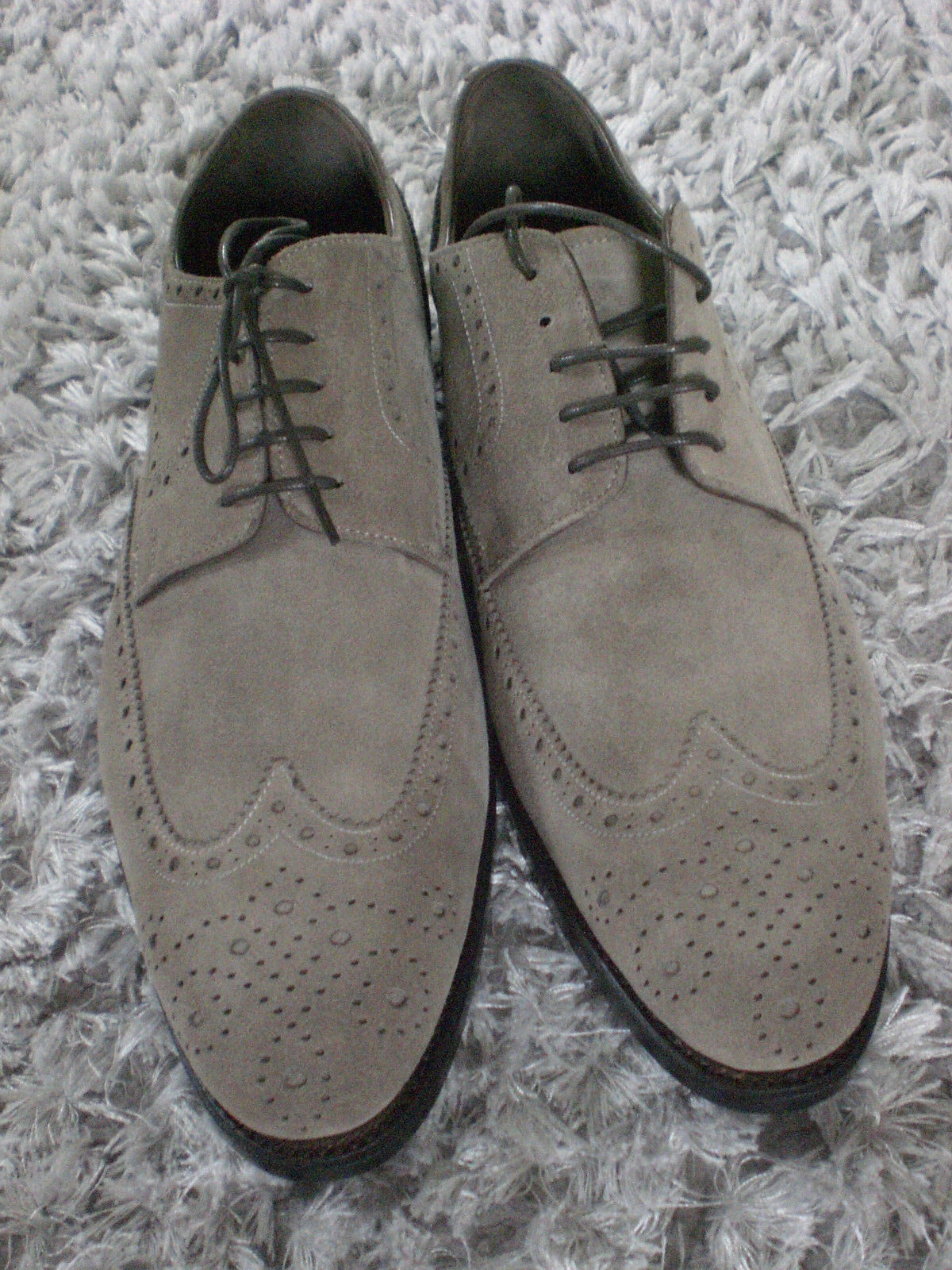 Prime Schuhes,Schnürer, grau Wildleder, NEU Gr. 42.5 UK UK UK 8.5 ef0d84