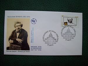 2002_enveloppe 1er Jour_fdc_alexandre Dumas (1802-1870)-Écrivain FranÇais.