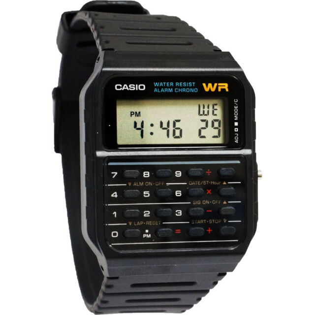 Casio Originale Nuovo CA-53W-1 Classico Uomo Calculator Orologio Digitale CA-53
