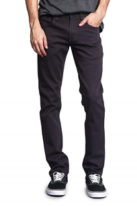 Victorious Men's Skinny Fit color Stretch Jeans DL937 - CHARCOAL - 30 32