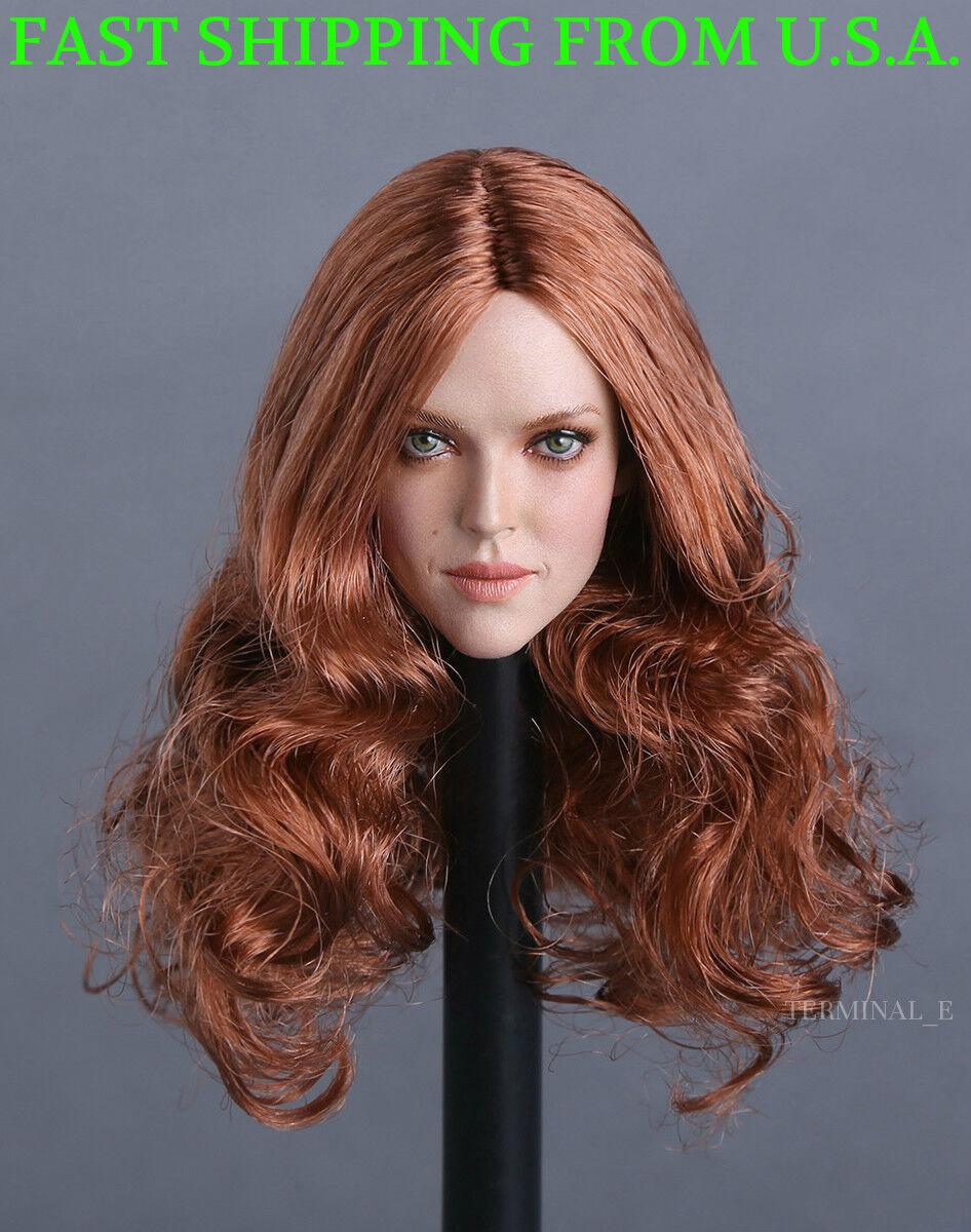 1 6 Female American Head Sculpt GC009A For Hot Toys Phicen Female Figure ❶USA❶