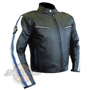 design di qualità 3602e a51ac Dettagli su Nuovo BMW 3874 Moto Motociclista Originale Giacca in pelle  Rinforzato Copertura