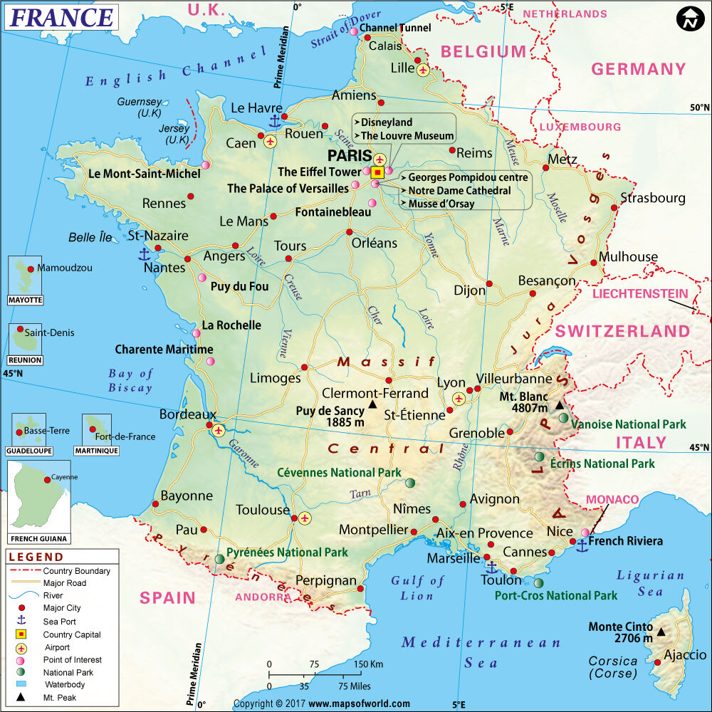 Map of France (Wall Map) 36  x 36 36 36  Paper cd62a9