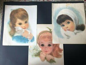 3-Vintage-Northern-Tissue-American-Beauties-Girls-Prints-by-Frances-Hook-1960s