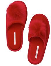 05ea7d8b7 NEW w/ Tag Victoria's Secret Red Pom Pom Cozy Slippers Women's Size ...