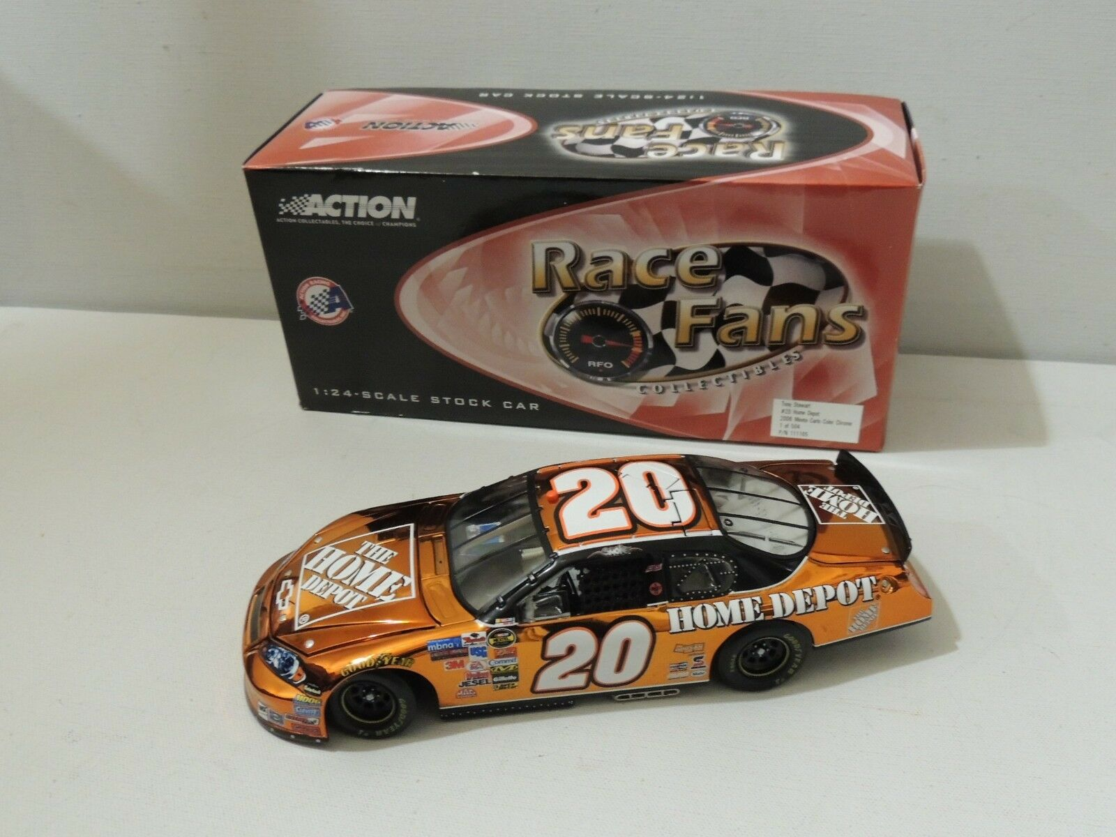 Action Collectibles 1 24 échelle  20 Tony Stewart 2006 MONTE CARLO Chrome 1 de 504