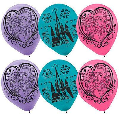 Disney Movie FROZEN Latex Balloons Girls Birthday Party Decoration Anna Elsa 6ct