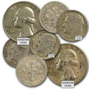 90/% Silver Coins Average Circulated $1 Face Value