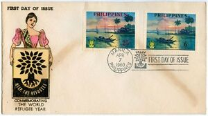 Philippine-Commemorating-the-World-Refugee-Year-1960-FDC