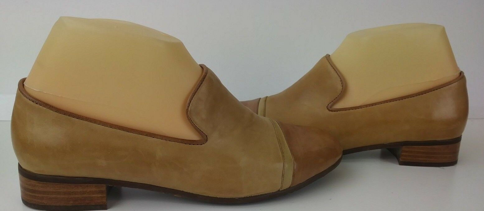 Chocolat Blu Damenschuhe Schuhes Loafers DEAN US 6 6 US Two Tone Braun Leder Slip on 557 8ebfdd