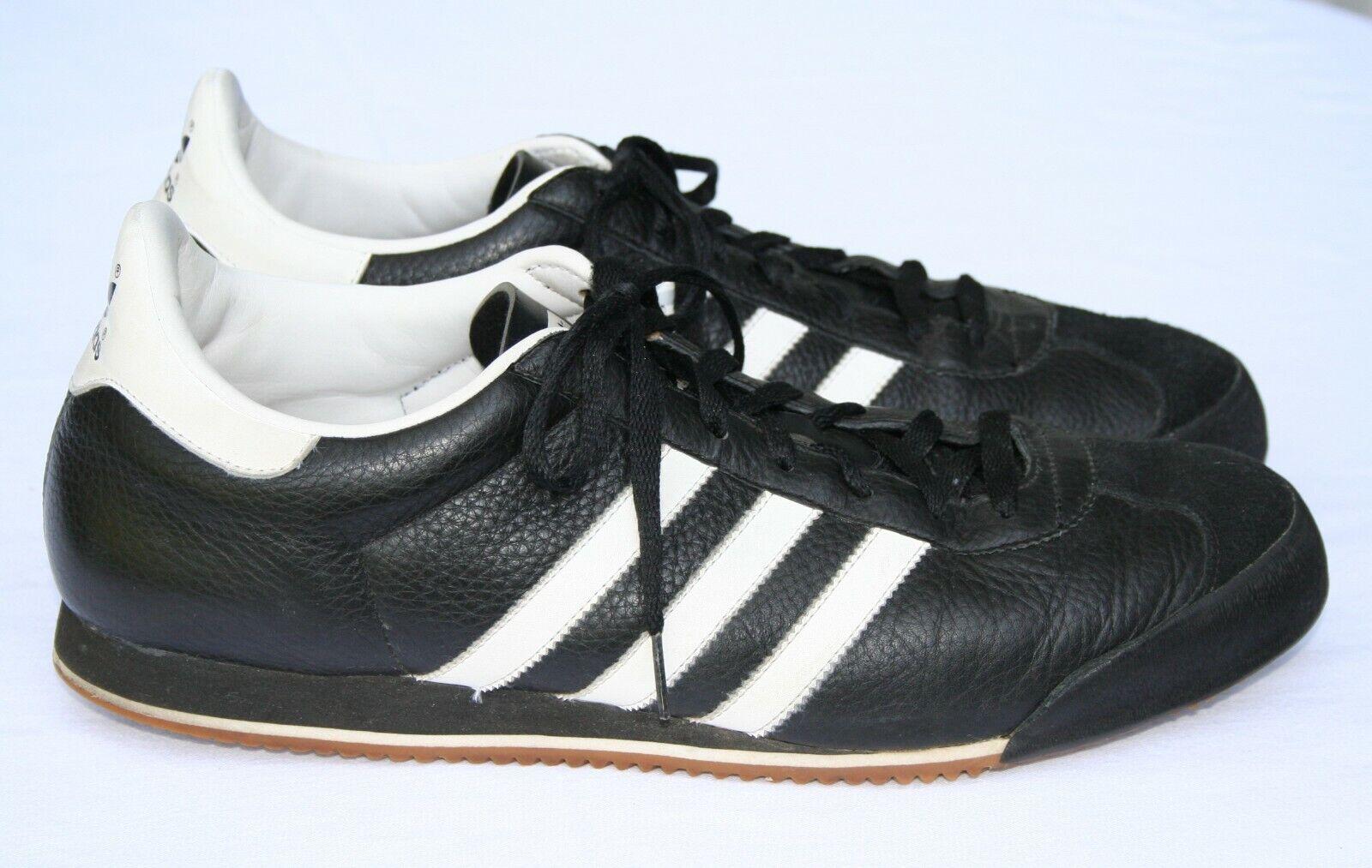 Adidas Kick Originals Sz 14 Leather Trainers Black & … - Gem