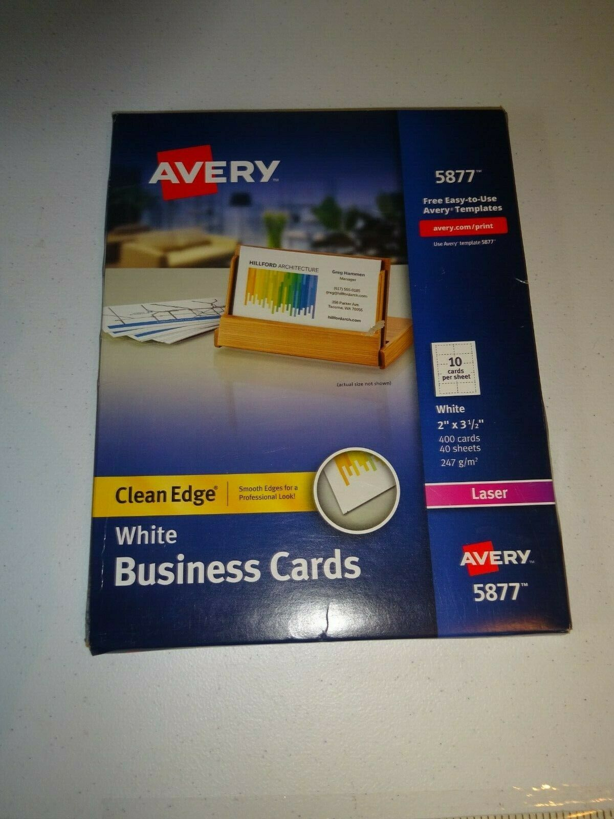Avery 5877 White 2 Side Clean Edge 400 Business Cards 40 Sheets Us For Sale Online Ebay