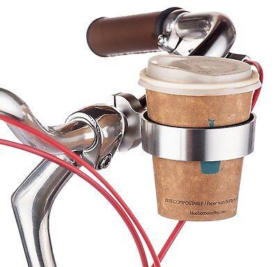 Bicycle Coffee Cup Holder Bottle Handlebar Ring Cage Drink bracket Bike road BMX