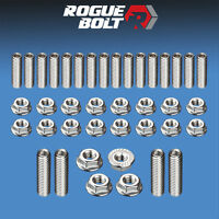 Ford 351c 351m 400m Oil Pan Stud Kit Bolts Stainless Steel Kit Cleveland Boss