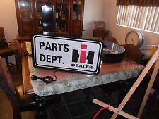 International Harvester Parts Dept.Lighted Sign
