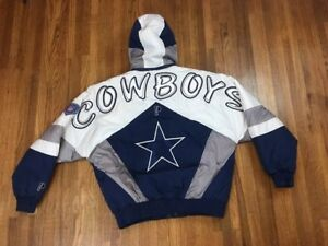 c0d0357ed Vintage Dallas Cowboys Winter Jacket Sz L Sewn Embroidered Pro ...