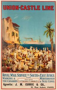 Original-Poster-Randall-Union-Castle-Line-Cruise-South-Africa-1920