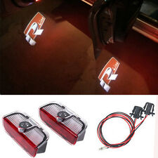 Led Lights R LINE Door Projectors  Logo For VW GOLF 5 6 7 GTI PASSAT B6 B7 JETTA