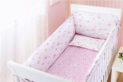 Baby Bedding Crib Cot Bumpers Quilt Sheet Set  - Cute Rabbit