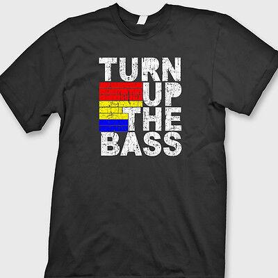 TURN UP THE BASS Music Club Dubstep T-shirt Dance Disco Tee Shirt