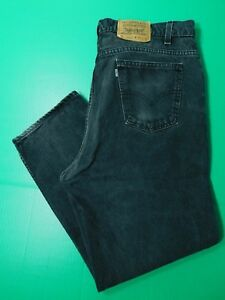 Levi's en Vtg denim hommes ajust pour cm coupe 40x29 5 noir Jeans xIw6qdfa6