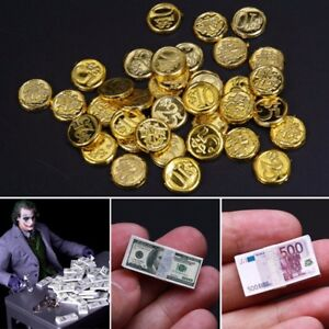 1/6 Scale Coins Dollars Euro Money Scene Accessories Toys