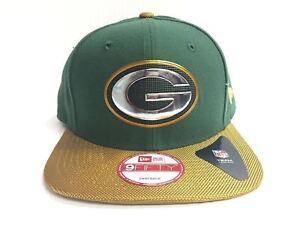 9f2f5ba9c04 Green Bay Packers New Era 9Fifty Cap Flat Brim Snapback Gold ...