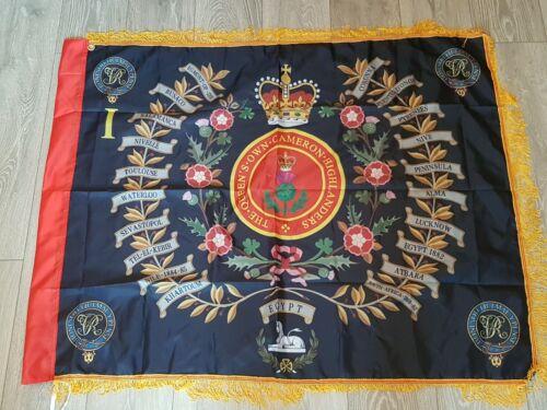 The Queens Own Cameron Highlanders 1st Battalion Regimental Colours Flag