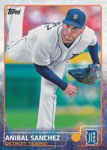 Anibal Sanchez 2015 Topps Series 1 #119 Detroit Tigers baseball card