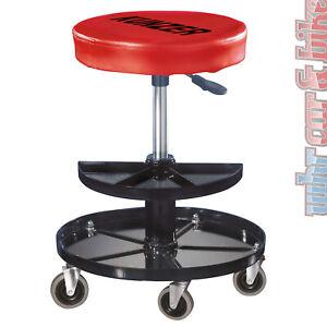 Kunzer-Rollhocker-WK-3010-pneumatischer-Montagerollhocker-Werkstatt-Sitz-Hocker