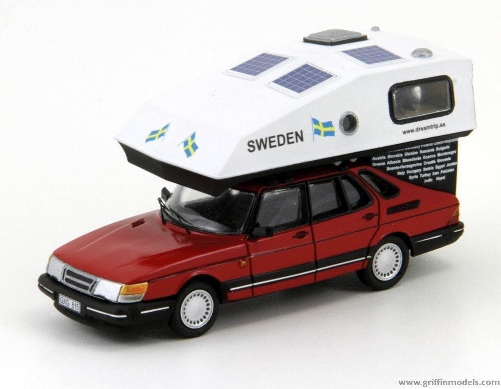 Saab 900 con toppola Camper dreamtrip-Resin Kit Escala 1/43 por los modelos de Griffin