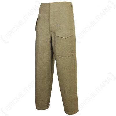 WW2 Repro Battle Dress Serge Brown New British Army Pattern 37 Trousers