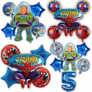 Detalles De Spiderman Y Buzz Lightyear Toy Story Globos De Cumpleaños Fiesta Decoraciones De Papel De Aluminio Ver Título Original