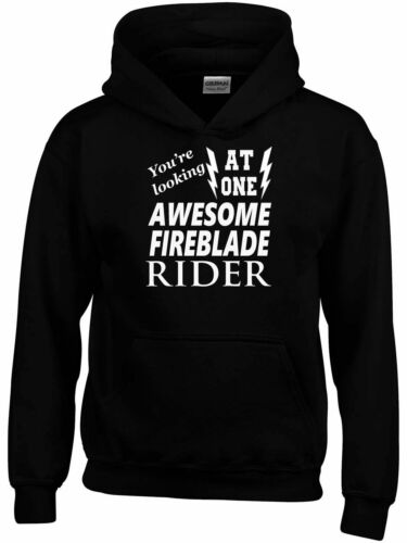 Awesome Fireblade Rider Hoodie New Funny Birthday Personalised Gift Mens  Biker