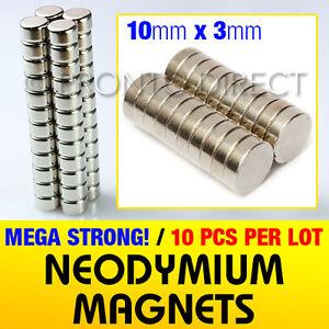 10-Strong-Magnets-Neodymium-10mm-Dia-x-3mm-Powerful-N35-Disc-Rare-Earth-Craft
