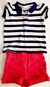 Girls Outfit Shorts Shirt Size 12 Months