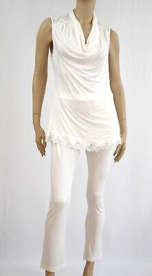 Marjolaine Pigiama 2 Pezzi Viscosa Taglia L/fr42/eu40 Colore Bianco 'vantaggi' Sleepwear & Robes