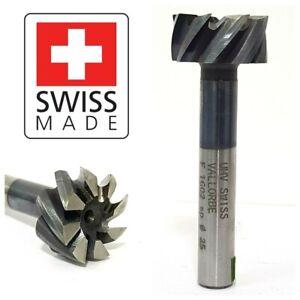 Swiss-Vallorbe-25mm-x-10mm-x-12-mm-8-Flute-T-Slot-cutter-mill-milling-63-64-inc