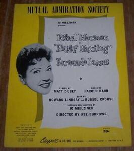 Mutual Admiration Society Musical Happy Hunting Ethel Merman Fernando Lamas 1956