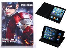 For Apple iPad Mini 1 2 3 Marvel Comics Captain America DC Stand Case Cover