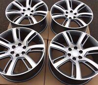 Set Of Four 22 Gunmetal/machined Wheels Rims Fits Cadillac Escalade Ext Esv