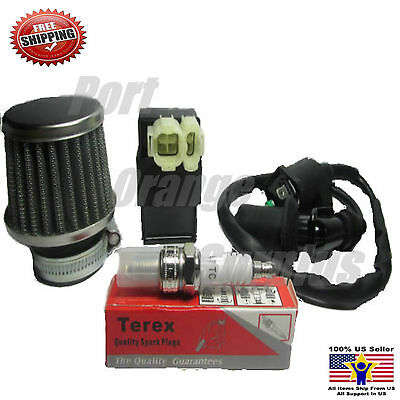 Air Filter+ New CDI+ Ignition Coil + Spark Plug Gy6 PD 19J 50cc Scooter