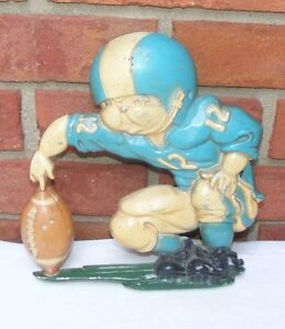 Vintage-HOMCO-Home-Interiors-Metal-Football-Plaque-Wall-Hanging