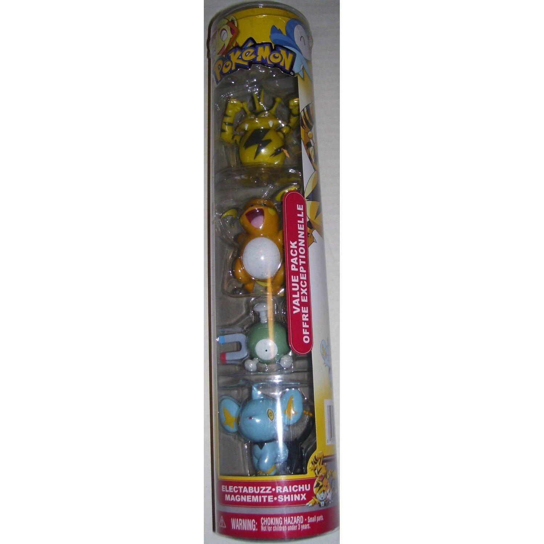 Pokemon Electabuzz, Raichu, Magnemite & Shinx Basic Basic Figure 4-Pack