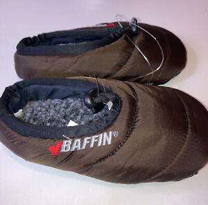 Baffin Youth Medium Cush Slipper, Brown