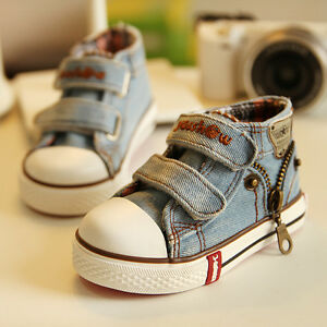 2016 Children Shoes Kids Canvas Shoes Boys Sneakers Girls Baby Jeans Flat Boots