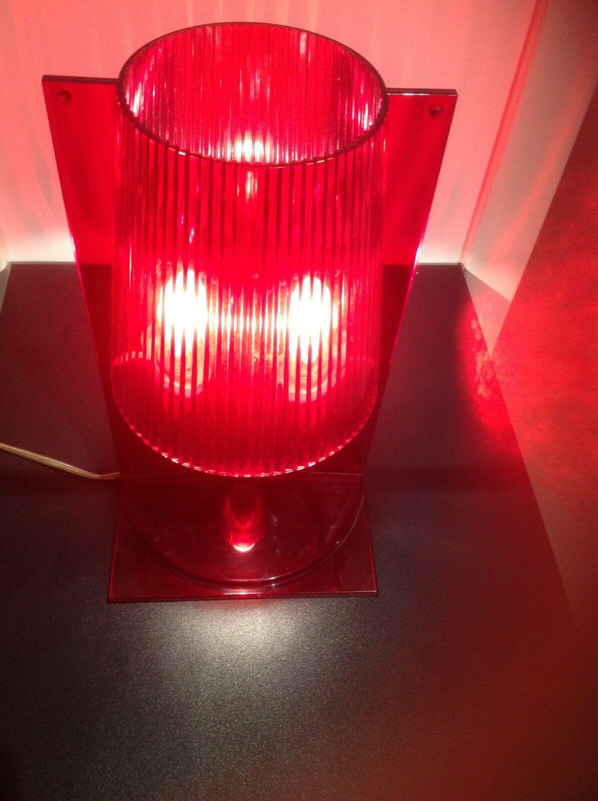 KARTELL Take Tischlampe, Farbe  rot, einwandfrei